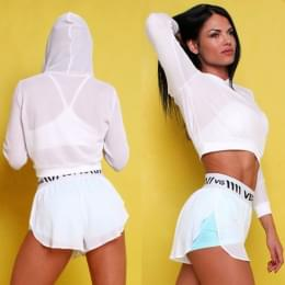 Комплект  шорты CHEEKY (White and Mint) и топ  Air (White)