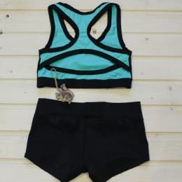 Комплект шорты для Pole Dance и мятный топик