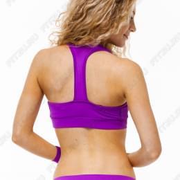 Комплект фиолетовые шорты, топик и перчатки